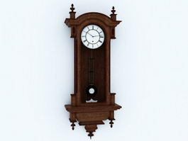 Antique Pendulum Wall Clock 3d preview