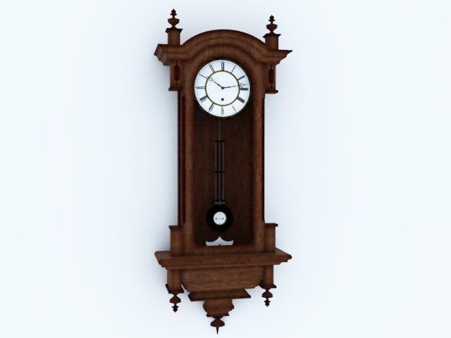 Antique Pendulum Wall Clock 3d rendering