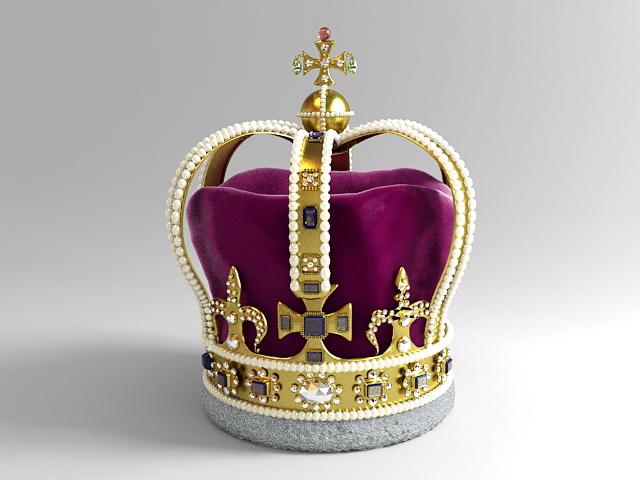 Royal Crown 3d rendering