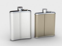 Stainless Steel Hip Flask 3d preview