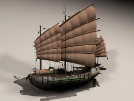 Ancient Chinese Junk 3d model preview