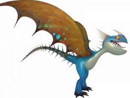 Cute Blue Dragon 3d model preview