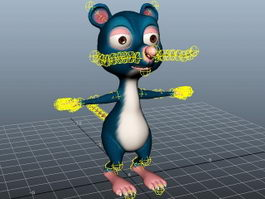 Cute Cartoon Mouse Rig 3d preview