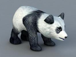 Baby Panda 3d model preview