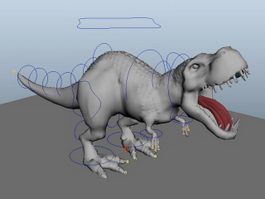 Dinosaur Animation Rig 3d model preview