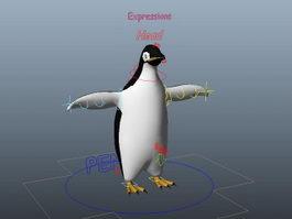 Gentoo Penguin Rig 3d preview
