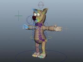 Rigged Cartoon Bear 3d model preview