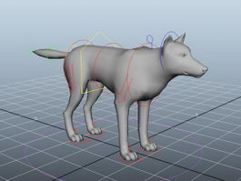 Wolf Rigged 3d preview