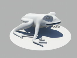 Animated Frog Jumping 3d preview
