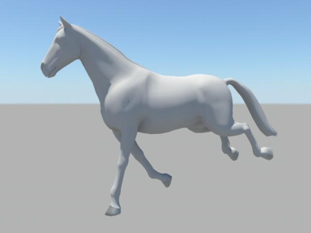 Horse Running Animation 3d rendering