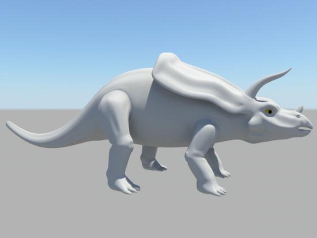 Zuniceratops Dinosaur 3d rendering