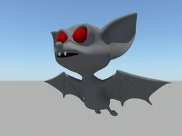 Cute Cartoon Bats 3d preview
