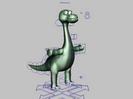 Rigged Cartoon Dinosaur 3d model preview