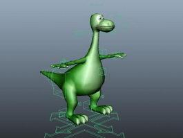 Cute Brontosaurus Rig 3d model preview
