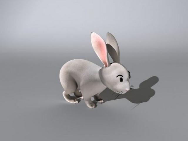 Rabbit Rig 3d rendering
