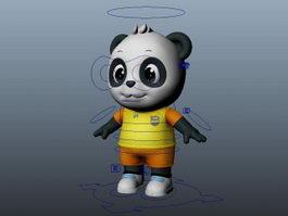 Cute Cartoon Panda Rig 3d model preview