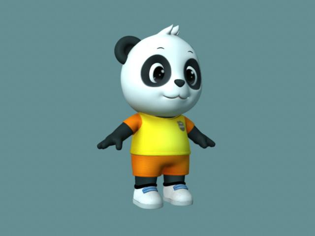 Cute Cartoon Panda Rig 3d rendering