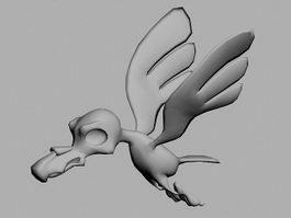 Cartoon Bird Animation 3d model preview