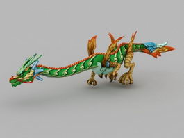 Anime Chinese Dragon 3d model preview