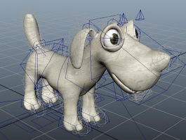 Cute Dog Rig 3d preview