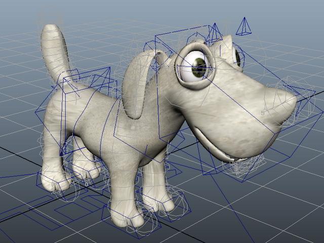 Cute Dog Rig 3d rendering