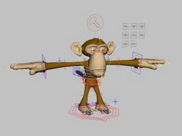 Cute Monkey Rig 3d preview