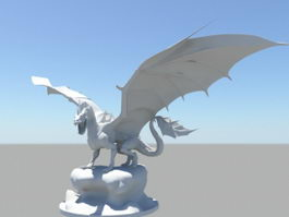 Hell Dragon 3d model preview
