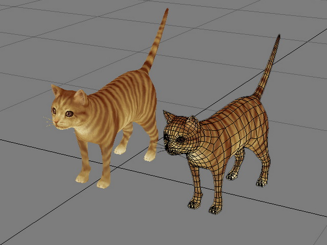 Orange Tabby Cat 3d rendering