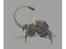 Scorpion Creature Rig 3d model preview