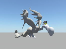 Animated Cartoon Vulture 3d model preview