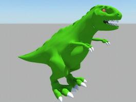 Green Tyrannosaurus Rex 3d model preview