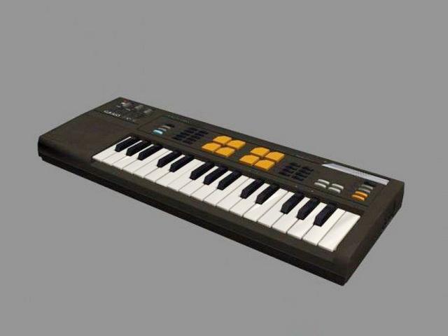 Casio SK-5 Keyboard 3d rendering