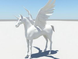 Unicorn with Wings 3d preview