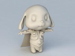 Rabbit Warrior 3d model preview