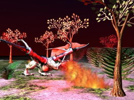 Fire Dragon Animation 3d model preview