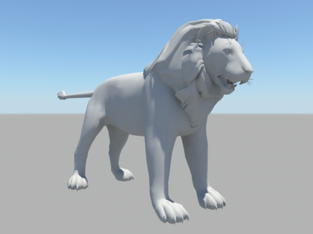 Barbary Lion 3d rendering
