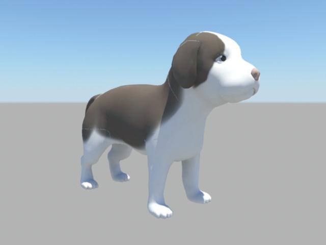 Cute Beagle Puppy 3d rendering