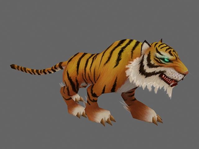 Tiger Animation 3d rendering