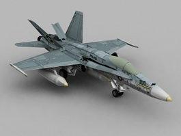F18 Hornet 3d model preview