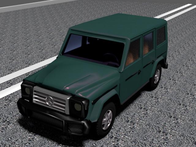 Mercedes-Benz G-Wagen 3d rendering