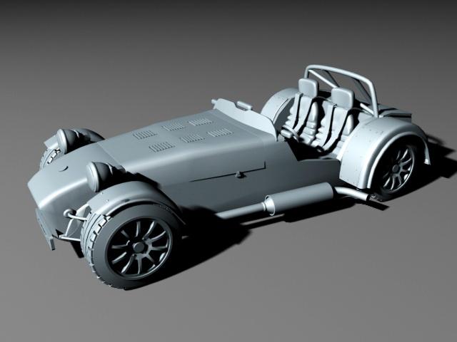 Caterham R300 3d rendering
