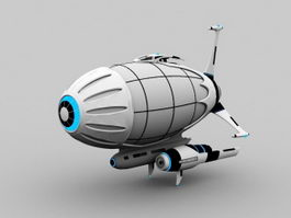Sci-Fi Airship 3d model preview
