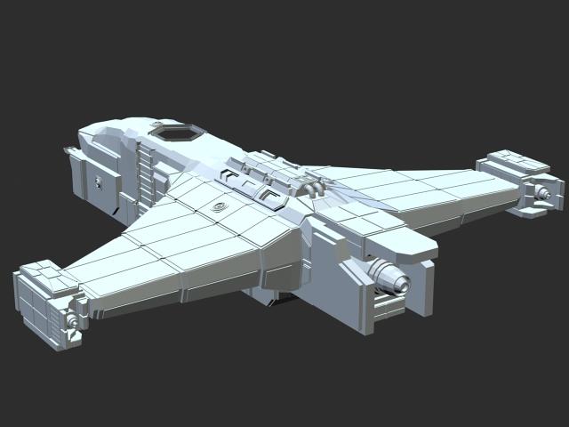 Space Bomber 3d rendering