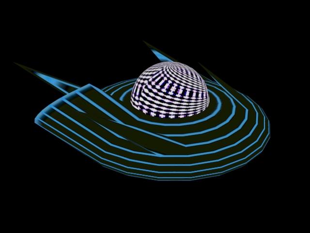 Unidentified Flying Object 3d rendering