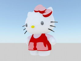 Hello Kitty 3d model preview