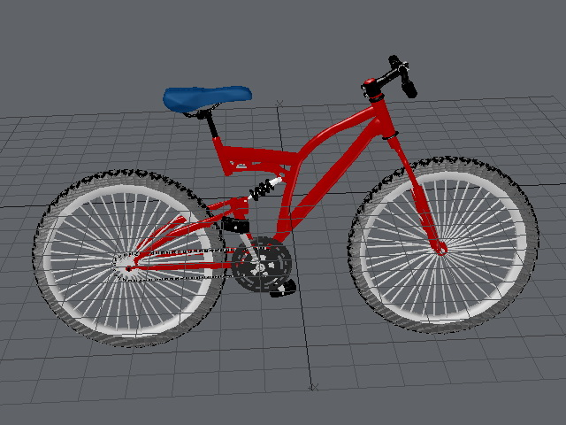Red Mountain Bicycle 3d rendering