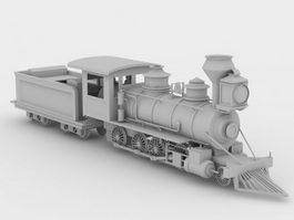 Steam locomotive 3d preview