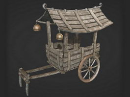 Chinese Wooden Cart 3d preview