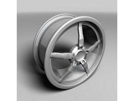 Oki Alloy Wheel 3d preview