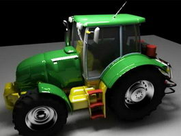 Green Tractor 3d preview